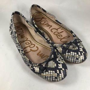 Sam Edelman Felicia Leather Snakeskin Ballet Flat